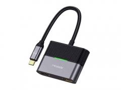 هاب آداپتور تایپ سی به دو پورت HDMI و یک پورت تایپ سی مک دودو MCDODO 3 in 1 Type-C hub HDMI x2 + PD HU-739