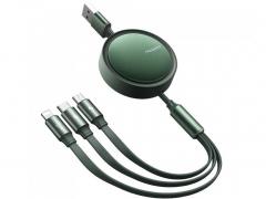 کابل شارژسه سر مک دودو Mcdodo CA-725 3in1 Retractable Charging Cable 1.2M