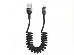 کابل شارژ و انتقال دیتا 1.8متری لایتنینگ مک دودو MCDODO Data Coiled Cable Lightning 1.8M CA-641