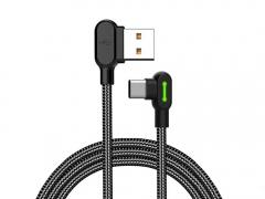 کابل شارژ و انتقال دیتا نیم متری تایپ سی مک دودو MCDODO 90 Degree Light Cable Type-C 0.5M CA-528