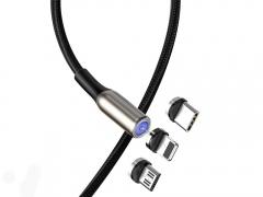 کابل شارژ سه سر آهنربایی بیسوس Baseus Zinc Magnetic Cable Kit 1M