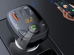 شارژر فندکی با قابلیت پخش موسیقی و تماس راک Rock B301 Bluetooth FM Transmitter Car Charger
