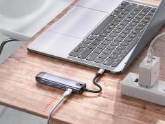 هاب آداپتور تایپ سی 5 در 1 مک دودو MCDODO 5 in 1 USB-C HUB HU-775 با قابلیت شارژ فوق سریع 100 واتی