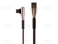 کابل شارژ سریع و انتقال داده تایپ سی دایوی Divi P453-12 Elbow Surfboard type-C Cable 1.2m