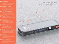هاب چندکاره تایپ سی راک Rock TR01 Multifunctional Extension Hub Adapter