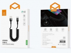 کابل شارژ سریع و انتقال داده تایپ سی تلفنی مک دودو Mcdodo CA-642 Data Coiled Type-C Cable 1.8M