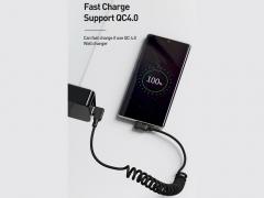 کابل شارژ سریع و انتقال داده تایپ سی تلفنی مک دودو Mcdodo CA-731 Data Coiled Type-C Cable 1.8M