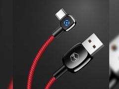 کابل شارژ و انتقال داده 1.5 متری تایپ سی مک دودو MCDODO 90° Auto Power Off Type-C Data Cable 1.5M CA-5923