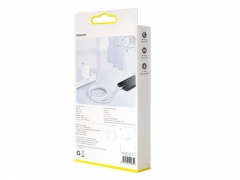 کابل شارژ سریع و انتقال داده تایپ سی بیسوس Baseus White Series VOOC Type-C Cable 1M