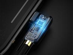 کابل شارژ سریع و انتقال داده لایتنینگ مک دودو Mcdodo CA-751 90Degree Lightning Cable 1.2M دارای تراشه کنترل هوشمند