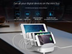 داک شارژ هوشمند 5 پورت اوریکو Orico DUC-5P 5 Ports USB Smart Charging Station قابلیت شارژ 5 دستگاه همزمان
