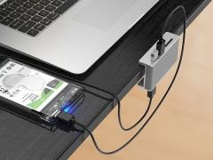 هاب یو اس بی 2 پورت همراه با کارتخوان اوریکو Orico MH2AC-U3 Clip-type USB3.0 HUB دارای یو اس بی پرسرعت