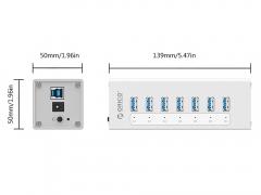 هاب آداپتور یو اس بی 7 پورت اوریکو Orico A3H7 7Ports USB Hub
