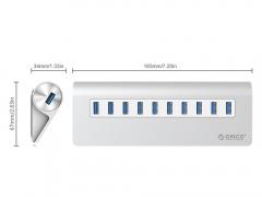 هاب یو اس بی 10 پورت اوریکو Orico M3H10 10Port USB Hub