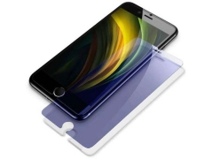 محافظ صفحه نمایش شیشه ای دوتایی ضداشعه بیسوس آیفون Baseus Anti Blue Glass Screen iPhone SE 2020