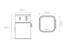 شارژر دیواری سریع دو پورت چندشاخه بیسوس Baseus JY-302PD Removable 2in1 Universal Adapter