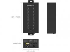 هاب صنعتی یو اس بی 30 پورت اوریکو Orico IH30P 30Port USB Hub