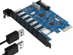 هاب اینترنال 7 پورت یو اس بی 3.0 اوریکو Orico PVU3-7U USB 3.0 7Port Hub دارای مدار های باکیفیت