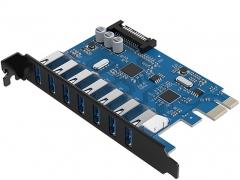 هاب اینترنال 7 پورت یو اس بی 3.0 اوریکو Orico PVU3-7U USB 3.0 7Port Hub دارای کیفیت ساخت بالا