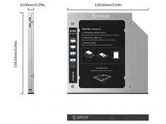 کدی هارد درایو اوریکو Orico M95SS Laptop Hard Drive Caddy for Optical Drive