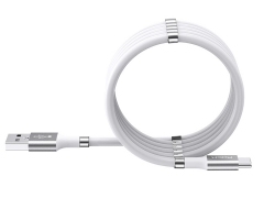 کابل شارژ و انتقال داده تایپ سی راک Rock Magnetic Silicone Type-C Cable 1.8M