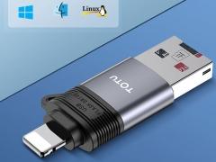 رم ریدر او تی جی لایتنینگ توتو Totu FGCR-006 Lightning OTG External TF Flash Card  سازگار با سیستم عامل های مختلف
