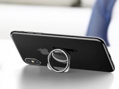 حلقه نگهدارنده موبایل طرح خرس بیسوس Baseus Bear Finger Metal Ring Grip Stand Holder قابلیت استفاده بعنوان استند