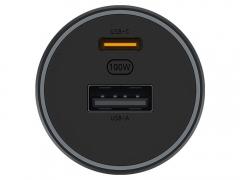 شارژر فندکی سریع با خروجی یو اس بی و تایپ سی شیائومی Xiaomi 100W Car Fast Charger دارای دو خروجی شارژ