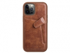قاب محافظ چرمی نیلکین آيفون ۱۲ و ۱۲ پرو - Nillkin iPhone 12/12 Pro Aoge Leather Case