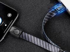 کابل شارژ و انتقال داده لایتنینگ بیسوس Baseus Golden Collar Lightning Cable 35cm