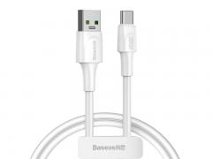 کابل شارژ سریع و انتقال داده تایپ سی بیسوس Baseus White Series VOOC Type-C Cable 2M