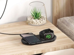 شارژر وایرلس دوتایی گوشی و اپل واچ بیسوس Baseus BS-W511 Cable Winder Wireless Charger