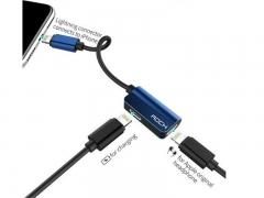 مبدل لایتنینگ به لایتنینگ راک Rock RCB0588 Lightning Audio Cable