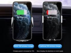 پایه نگهدارنده و شارژر بی سیم راک Rock w29 wireless charging car