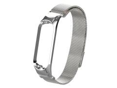 بند فلزی حصیری دستبند سلامتی شیائومی می بند ۵ Xiaomi Mi Band 5 Metal Magnetic Strap