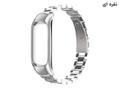 بند فلزی دستبند سلامتی شیائومی می بند 5 Xiaomi Mi Band 5 Metal Strap