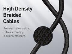 کابل شارژ و انتقال داده  فست شارژ تایپ سی به تایپ سی بیسوس Baseus High Density Braided Type-C to Type-C Cable Fast Charging 100W 1m