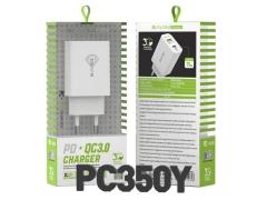 شارژر دیواری سریع و کابل تایپ سی باوین Bavin PC350Y Type-C Charger