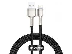 کابل شارژ سریع و انتقال داده لایتنینگ بیسوس Baseus Cafule Metal Lightning Cable 2m 2.4A