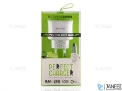 شارژر دیواری و کابل میکرو یو اس بی باوین Bavin PC390Y Micro USB Charger