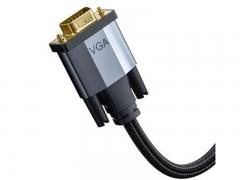 کابل اچ دی ام آی به وی جی ای بیسوس Baseus Enjoyment HDMI To VGA Cable 1m