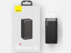 شارژر دیواری سریع دو پورت بیسوس Baseus CCGaN45UC GaN2 Pro Type-C+USB-A Charger