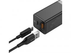 شارژر دیواری سریع 45 وات تایپ سی   یو اس بی بیسوس Baseus CCGaN45UC GaN2 Pro Type-C USB-A Charger دارای کیفیت ساخت بالا