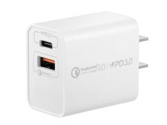 شارژر دیواری سریع دو پورت مومکس Momax UM13CN OnePlug PD QC3.0 Charger 20W