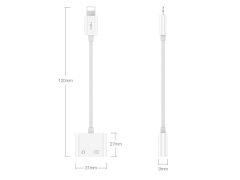 مبدل لایتنینگ به لایتنینگ و صدا توتو Totu EAUC-18 Glory Lightning to Lighting + 3.5mm Audio Converter