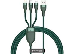 کابل شارژ سریع سه سر بیسوس Baseus Flash Series 3 in 1 Fast Cable 1.2m
