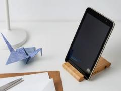 پایه نگهدارنده رومیزی گوشی موبایل و تبلت ایکیا (اصلی) IKEA 22516 Bamboo Holder for Mobile & Tablet
