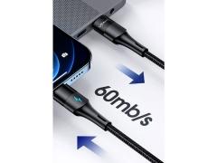 کابل آهنربایی تایپ سی به لایتنینگ+تایپ سی سریع یوسامز Usams US-SJ495 U66 Type-C to Lightning+Type-C Cable 1.2m