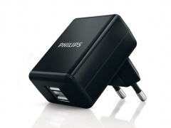 شارژر دیواری 1A فیلیپس Philips با دو پورت USB