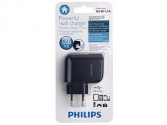 شارژر دیواری فیلیپس Philips با دو پورت USB